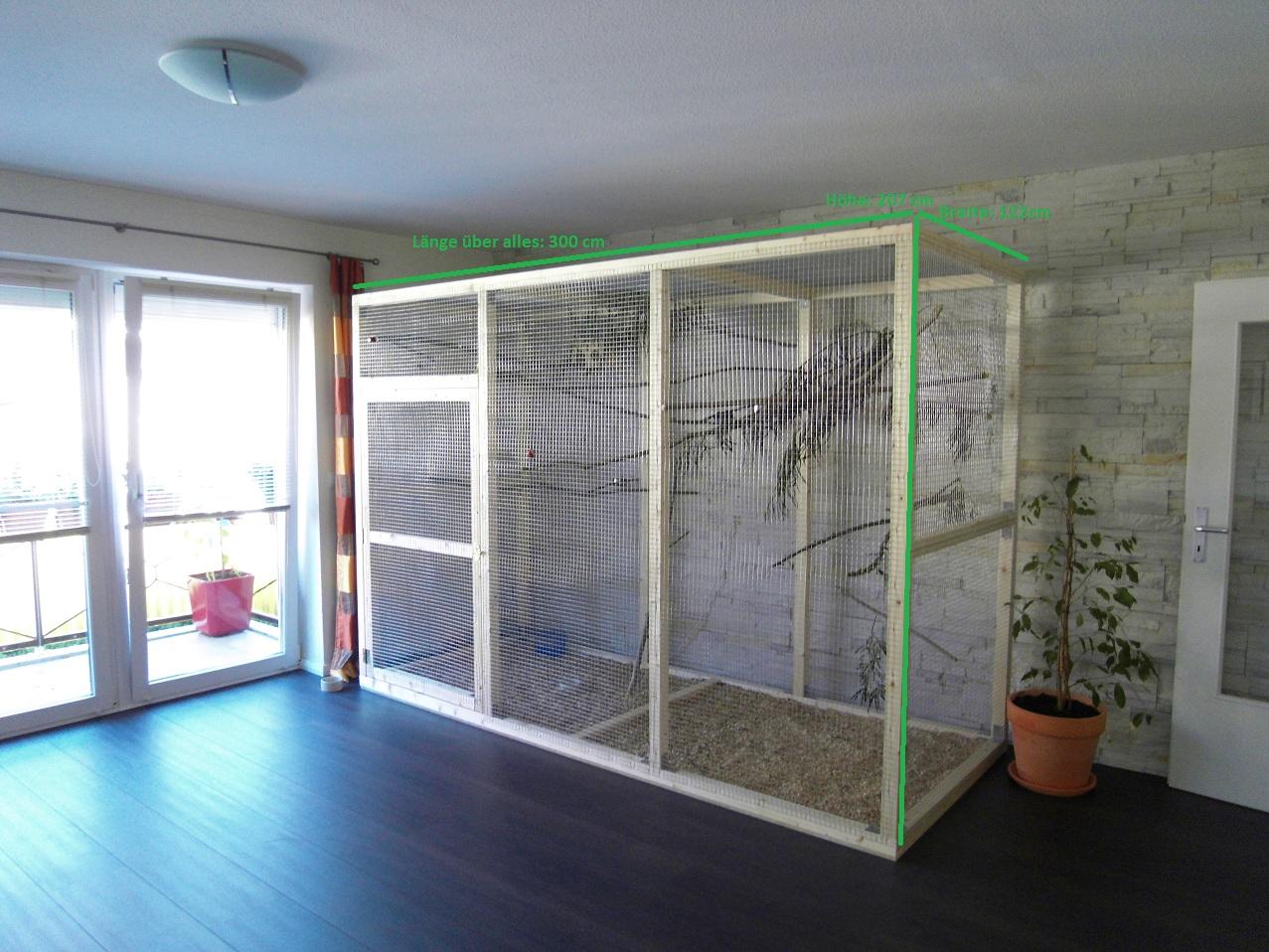 vogelvoliere einebinsenweisheit. Black Bedroom Furniture Sets. Home Design Ideas